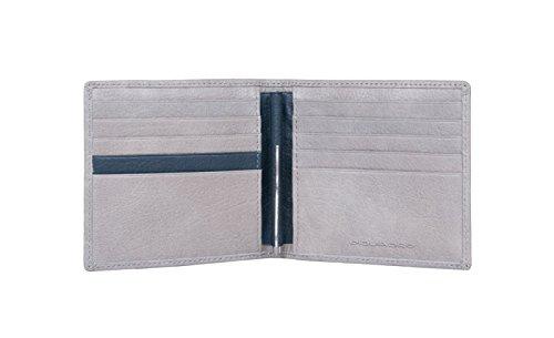Portafoglio Uomo Piquadro | con fermabanconote | Linea Vibe | PU1666VI-grigio/blu