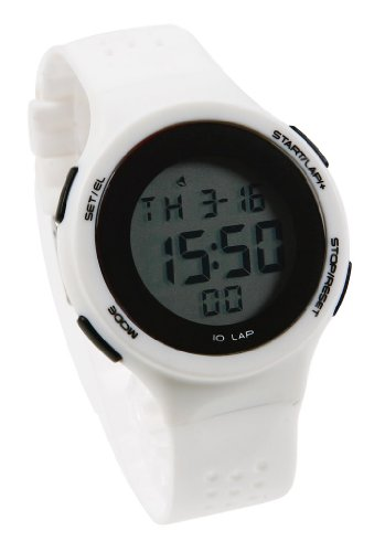 Korean Retro Girls Students Contrast Color Led Sport Watches White