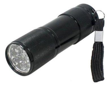 BAFX Products (TM) - Super bright - Aluminum - 9 LED Flashlight W/ carrying strap