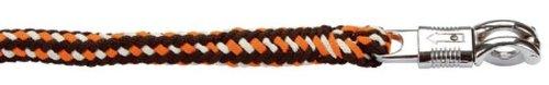 Führstrick Softra m.Panikhaken orange/grau/weiß