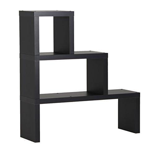 arne ディスプレイラック 完成品 飾り棚 変形 オープンシェルフ 本棚 DUAL CORE ブラック