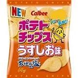 calbeeカルビー ポテトチップス うすしお味60g 12袋セット