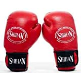 Boxing Gloves SUPA-SPAR Sparring/Training Gloves 'RED' Genuine Cow-Hide Leather 12oz + Free 1 Pair Hand Wraps