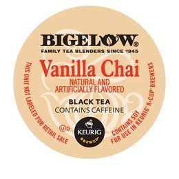 Bigelow Vanilla Chai Tea K-Cups For Keurig Brewers -24 Count back-227186
