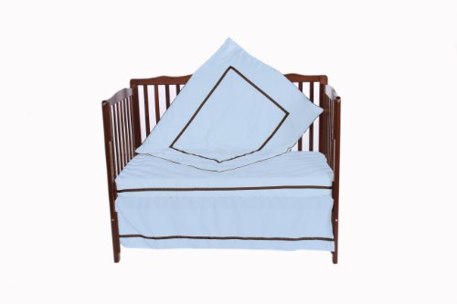 Baby Doll 4 Piece Crib Bedding Set, Blue