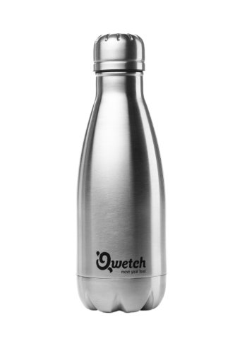 Qwetch - Bouteille Isotherme en Inox Brossé - 300 ml