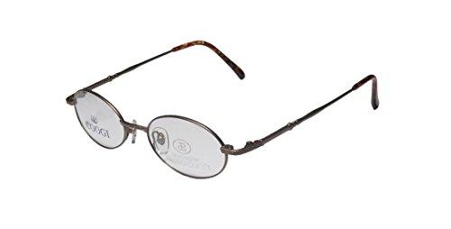 paolo-gucci-7435-mens-womens-oval-full-rim-eyeglasses-eye-glasses-48-19-140-matte-brown