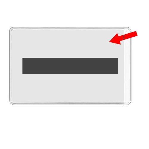 Storesmart - Business Card Pocket With Magnet Strip - Open Short Side - 10 Pack - For Refrigerator, Filing Cabinet, Or Locker - Pe222M2-10 front-317448