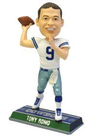 Buy Low Price Forever Collectibles Tony Romo Dallas Cowboys End Zone Edition Bobble Head Doll from Forever Collectibles Figure (B004FZBX7A)