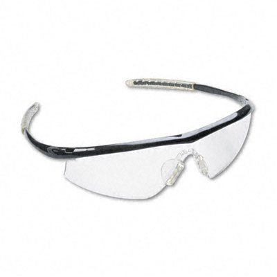 Mcr Safety Tm110 Tremor Sleek Hingeless Dielectric Safety Glasses With Onyx Frame And Clear Lens,