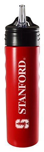 Stanford University-24oz. Stainless Steel Grip Water Bottle with Straw-Red (Stanford Bottle compare prices)