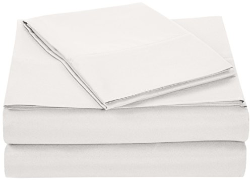 Purchase AmazonBasics Microfiber Sheet Set - Twin Extra-Long, White