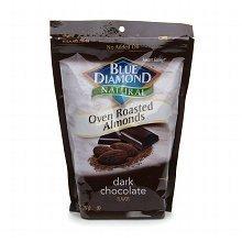 Blue Diamond Natural Oven Roasted Almonds Dark Chocolate Flavor (1) 16 Oz Bag