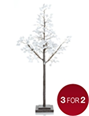 6ft Contemporary Winter Leaf Tree