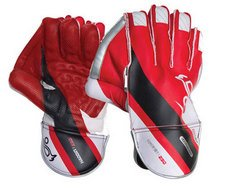 Kookaburra Haddin 250 Cricket Wicket Keeping Glove - Red/Black/White, Youths