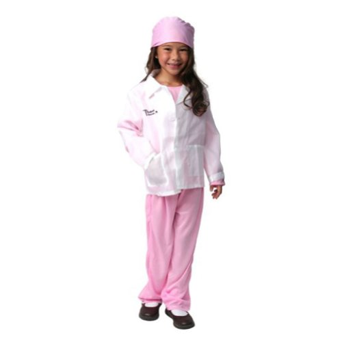 Girls Pink Medical Doctor Pretend Dressup Halloween Costume size 4/6