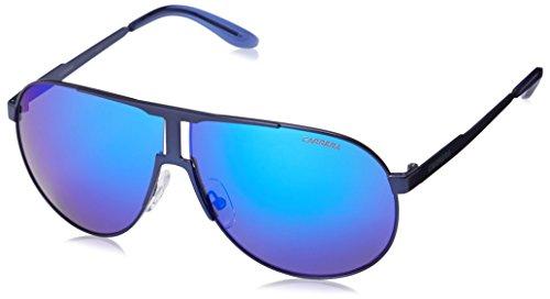 Carrera New Panamerika Aviator Sunglasses, Matte Blue & ML Blue, 64 mm (Sunglasses Carrera Blue compare prices)