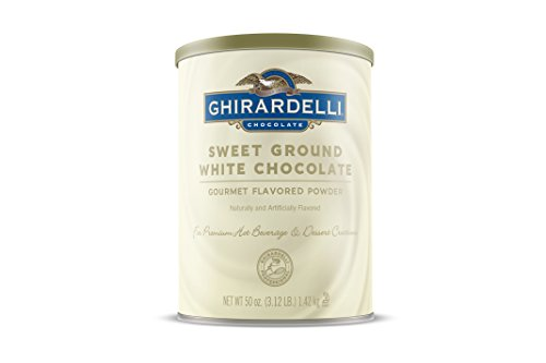 Ghirardelli Chocolate Sweet Ground White Chocolate Flavor Beverage Mix, 50-Ounce Canister (Ghirardelli Beverage compare prices)