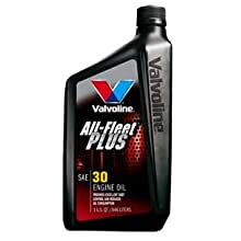 Valvoline VV396 All-Fleet Plus SAE 30 Motor Oil - 1 Quart Bottle (Case of 12)