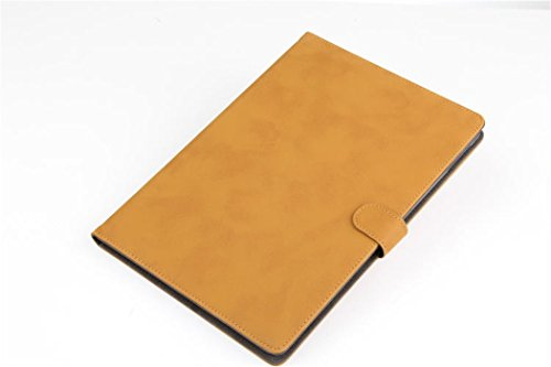 Apple Ipad Air 2 Case Borch Fashion Luxury Multi-Function Protective Retro Leather Light-Weight Folding Flip Smart Case Cover For For Ipad Air 2 (Khaki)
