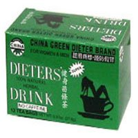 Dieters Tea China Green, 12 Bags (Pack of 2)