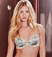 Rosie for Autograph Damask Rose Print Lace Padded Plunge A-DD Bra with Silk