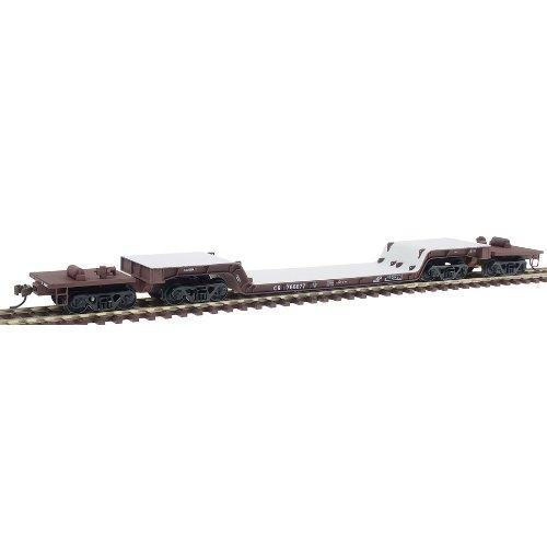 Imagen de Walthers HO Escala de la Línea de Oro (TM) 81 '4 - batea Truck Center Deprimido - Ensamblado - Conrail
