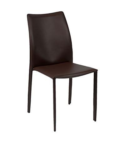 Eurostyle Dalia Side Chair, Brown