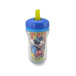 The First Years Disney Insulated Straw Cup, Mickey Mouse, 9 Ounce