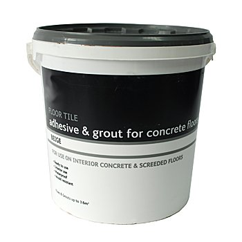Floor Tile Adhesive & Grout - Concrete Floors - 15kg