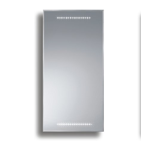 Badspiegel BELEUCHTET Wandspiegel BELEUCHTUNG Spiegel LICHT Badwandspiegel aus Kristall YJ-694