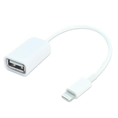 iPhone iPad Lightning OTG ケーブル Lightning - USB 変換 アダプター (オス-メス) USB用変換ケーブル ライトニング コネクター キーボード マウス コントローラー 接続 社外品 (Lightning OTG ケーブル)