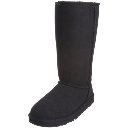 UGG Australia Children's Classic Tall Suede Boots,Black,2 Child US
