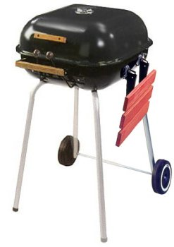 Meco Aussie Swinger Charcoal Grill, Black