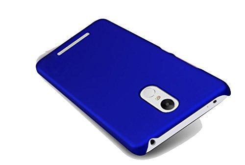 new photos 0b73f 27485 SDO™ Luxury Matte Finish Rubberised Slim Hard Case Back Cover for Xiaomi  Redmi Note 3 - Blue