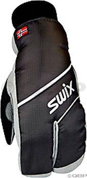 Swix Women's Split Mitten, Small, Black
