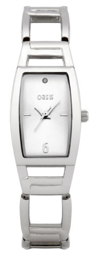 Oasis Women's Quartz Watch with Silver Dial Analogue Display and Silver Bracelet B1153