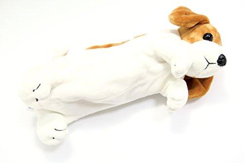 【Bright Future】机上の動物園 ドッグ ペンケース アニマル ブックマーカー セット 筆箱 筆記用具 おしゃれ かわいい 犬 ポーチ 小物入れ 文房具 グッズ (ビーグル)