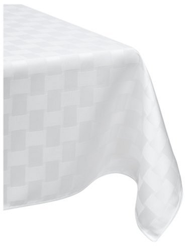 Bardwil reflections spill proof oblong tablecloth 52 inch for Table linens 52 x 70