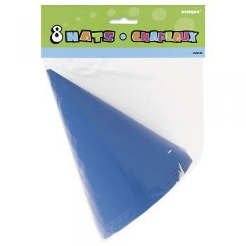 Blue Cone Hats (8 count) - 1