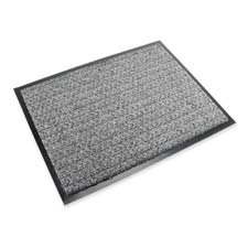3M Commercial Office Supply Div. Products - Scrapper Mat, f/ Light to Medium Traffic, 4'x6', Gray - Sold as 1 EA - Scraper matting is designed for inside light-to-medium traffic entrance areas with up to 50,000 to 100,000 people per year. Durable matting features a unique cross-rib dual fiber to remove, hide and trap dirt and moisture. Slip-resistant, vinyl backing will not stain floor and prevents dirt and moisture from falling through the mat to the floor.