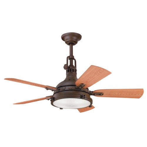 Kichler Lighting 310101TZP 44-Inch Hatteras Bay Patio Indoor/Outdoor Ceiling Fan, Tannery Bronze