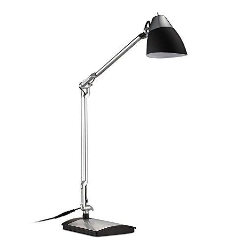 TaoTronics-Schreibtischlampe-LED-Tischlampe-Leselampe-Augenschutz-6W-Abklappbar-Flexibler-Arm-Drehbarer-Lampenkopf-Augenfreundliche-Gestaltung-Schwarz-Silber-Lackierung
