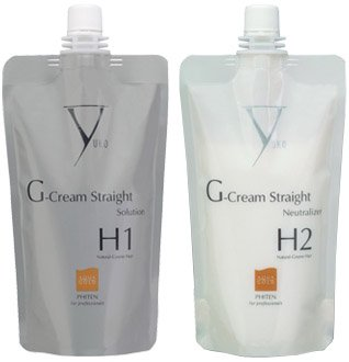 Yuko G-Gream Straight Natural-Coarse Hair - Solution & Neutralizer Set (H1/H2 SET)