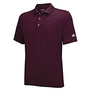 adidas Golf Men's Puremotion Solid Jersey Polo, Amazon Red/White, XX-Large