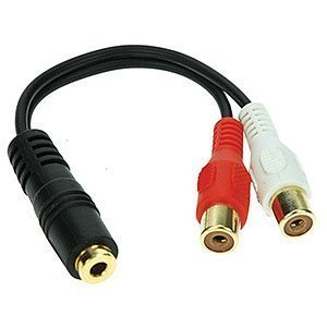 COCO 6 inches Stereo Splitter-3.5mm Jack to 2-RCA Jacks Audi