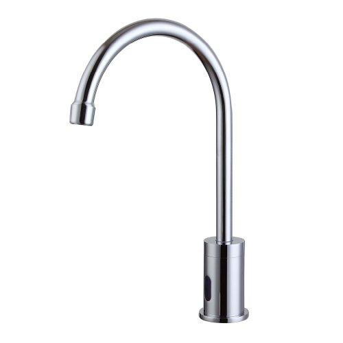 Smarstar Jt 727 Contemporary Brass Automatic Sensor Chrome Finish Bathroom Sink Faucet Tap Input