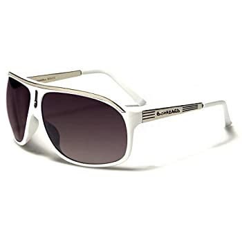 Biohazard Lunettes de Soleil Aviator - Ville - Mode - Fashion - Clubbing - Conduite - Moto / Mod. Ibiza Blanc / Taille Unique Adulte / Protection 100% UV400