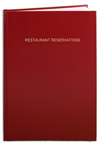 BookFactory® Restaurant Reservations Book / 365 Day Table Reservations / Dinner Reservations Log Book, 408 Pages - 8 7/8