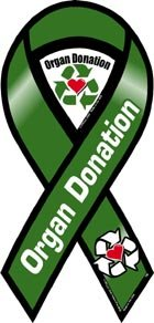 Amazon.com: Organ Donation Awareness 2 in 1 Ribbon Magnet: Automotive